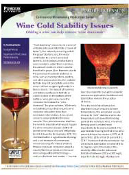 Commercial Winemaking Production Series: Wine Cold Stability Issues