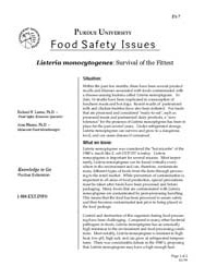 Listeria Monocytogenes: Survival of the Fittest
