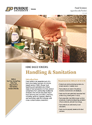 Home-based vendors: Handling and Sanitation