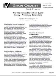 The 1992 Indiana Stored-Corn Quality Survey-Preliminary Conclusions