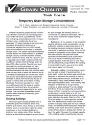 Temporary Grain Storage Considerations