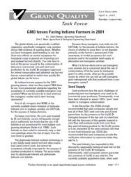 GMO Issues Facing Indiana Farmers in 2001