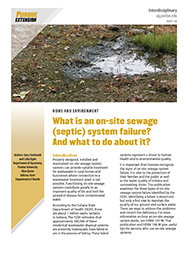 On-site septic system failure