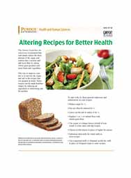 Altering Recipes for Better Health