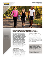 Start Walking for Exercise