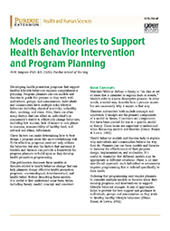 Models and Theories to Support Health Behavior Intervention and Program Planning