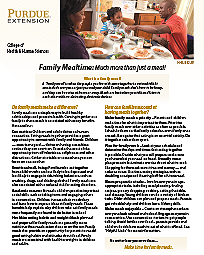 Family Mealtime:  Much more than just a meal!