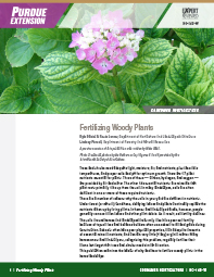 Consumer Horticulture: Fertilizing Woody Plants