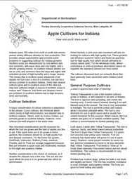 Apple Cultivars for Indiana