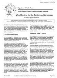 Weed Control for the Garden and Landscape