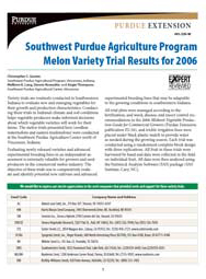Southwest Purdue Agriculture Program Melon Variety Trial Results for 2006