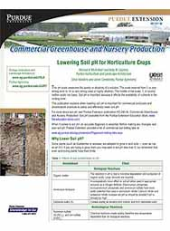 Commercial Greenhouse and Nursery Production: Lowering Soil pH for Horticulture Crops