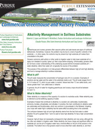 Commercial Greenhouse Production: pH and Electrical Conductivity Measurements in Soilless Substrates