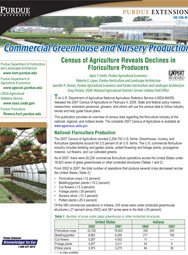Commercial Greenhouse and Nursery Production: Census of Agriculture Reveals Declines in Floriculture Producers