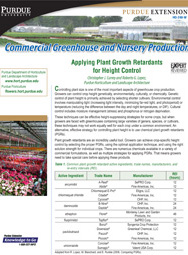 Commercial Greenhouse Production: Applying Plant Growth Retardants for Height Control