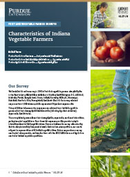Fruit and Vegetable Farmer Surveys: Characteristics of Indiana Vegetable Farmers