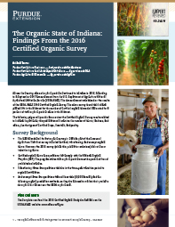 The Organic State of Indiana: Findings From the 2016 Certified Organic Survey