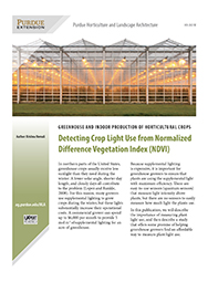 Greenhouse and Indoor Production of Horticultural Crops: Detecting Crop Light Use from Normalized Difference Vegetation Index (NDVI)