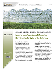 Greenhouse and Indoor Production of Horticultural Crops: Pour-through Technique of Measuring Electrical Conductivity of the Substrate