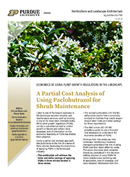 A partial cost analysis of using paclobutrazol for shrub maintenance