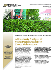 A sensitivity analysis of using Paclobutrazol for shrub maintenance