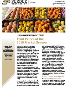 2019 Indiana Farmers Market Prices: Fruit