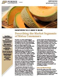 Describing the Market Segments of Melon Consumers