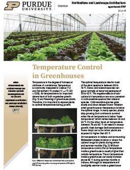 Temperature Control in Greenhouses