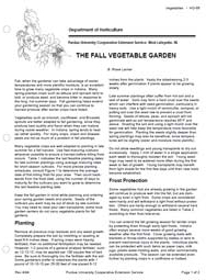 The Fall Vegetable Garden