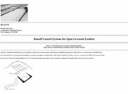 Runoff Control Systems for Open Livestock Feedlots