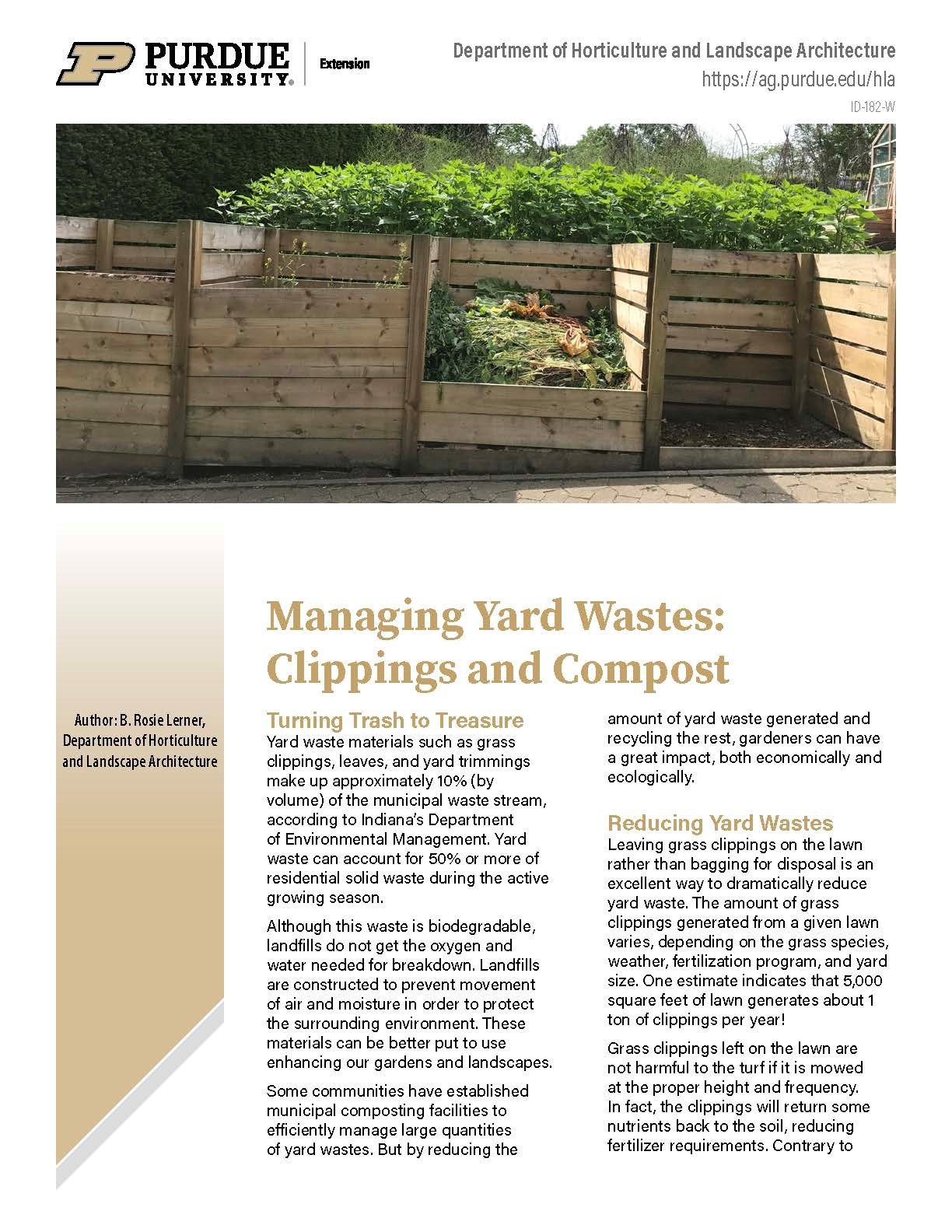 Managing Yard Waste: Clippings and Composting
