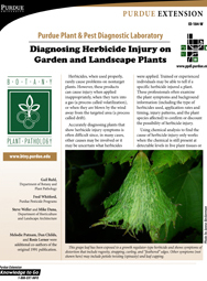 Diagnosing Herbicide Injury on Garden Landscape Plants