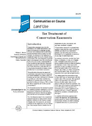 Tax Treatment of Conservation Easements