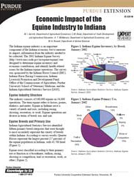 Economic Impact of the Equine Industry to Indiana