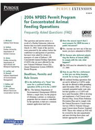 2004 NPDES Permit Program for Concentrated Animal Feeding Operations