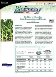 The Effect of Ethanol on Grain Transportation and Storage