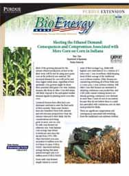 Meeting the Ethanol Demand: Consequences and Compromises Associated with More Corn on Corn in Indiana