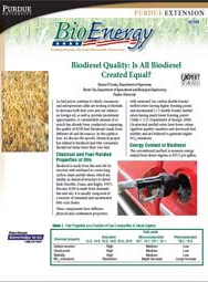 Biodiesel Quality: Is All Biodiesel Created Equal?