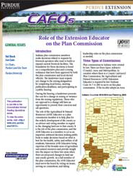 Role of the Extension Educator on the Plan Commission