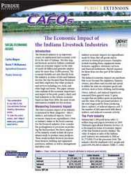 The Economic Impact of the Indiana Livestock Industries