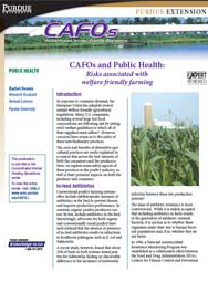 CAFOs and Public Health: Risks Associated with Welfare Friendly Farming