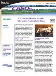 CAFOs and Public Health: Odor and its Possible Health Effects
