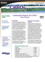Community Impacts of CAFOs: Labor Markets