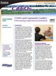 CAFOs and Community Conflict: Understanding Conflict Between Individuals