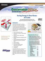 Saving Energy in Your Home: Air Leaks