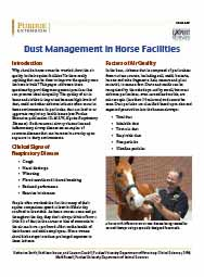 Dust Management in Horse Facilities