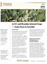 2,4-D- and Dicamba-tolerant Crops - Some Facts to Consider