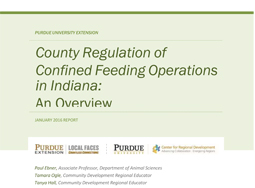 County regulations of confined feeding operations in Indiana:� An overview