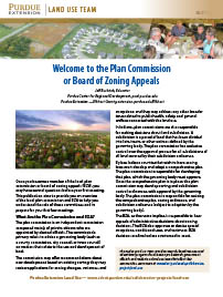 Land Use: Welcome to the Plan Commission or Board of Zoning Appeals