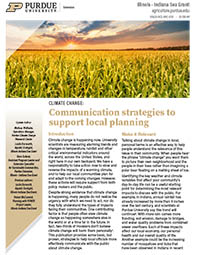 Climate Change: Communication strategies to support local planning